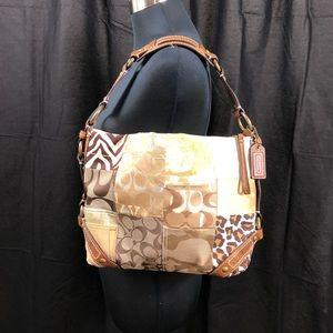 Coach Carley Patchwork Shoulder Bag